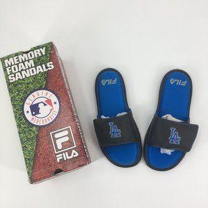 Fila MLB Slide Sandals LA Dodgers Men's 10